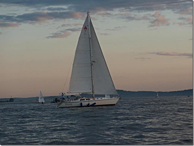 Catalina 42 Encore Sailing off Shilshole